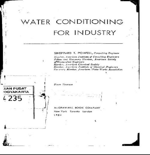 "Powell, P.T., 1954, ""Water Conditioning for Industry"""